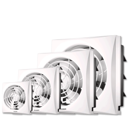 Full Plastic Grille Square Exhaust Fan - VIP