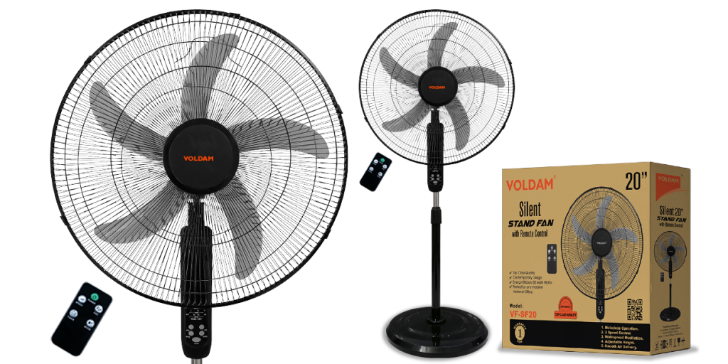 voldam stand fan with remote control 20